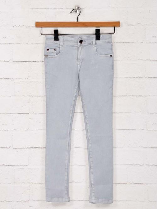 No Fear Presenred Light Grey Solid Jeans