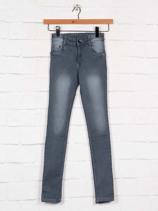 No Fear Washed Grey Casual Wear Jeans