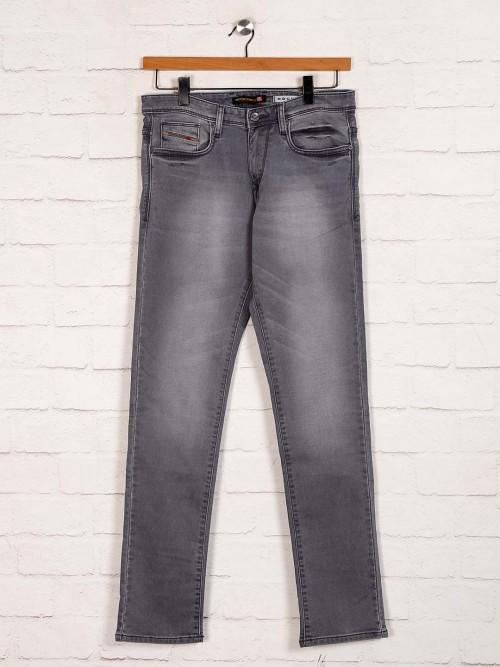Nostrum Grey Washed Slim Fit Jeans