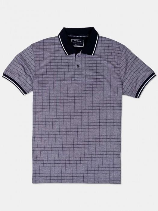 Octave Grey Checks Casual Wear T-shirt