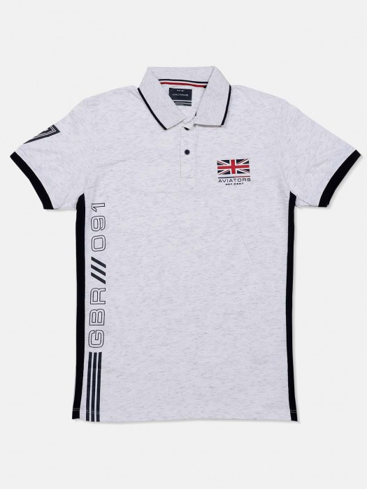 Octave Solid Light Grey Cotton T-shirt