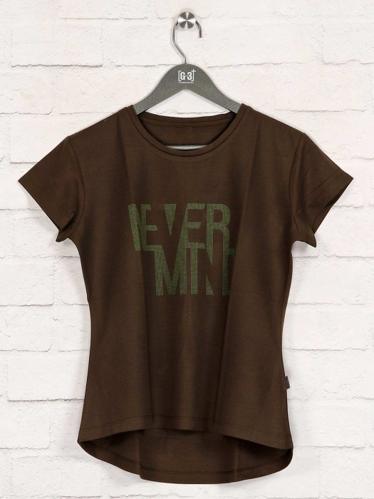 Olive Printed Casual Wear Top
