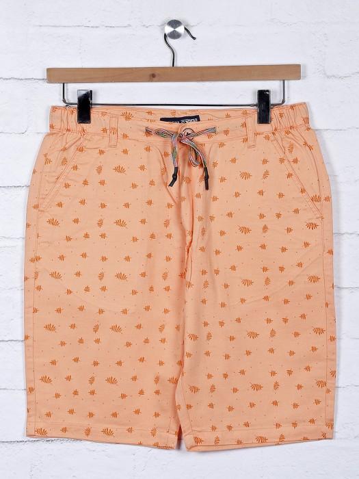 Origin Printed Pattern Peach Cotton Shorts
