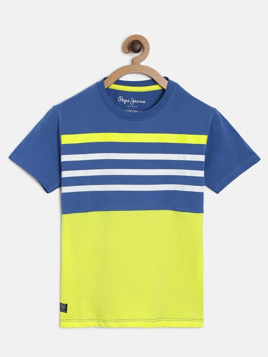 Pepe Jeans Cotton Stripe Blue T-shirt