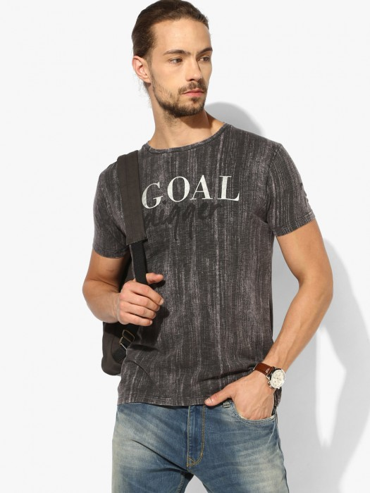 Pepe Jeans Grey Casual Wear T-shirt