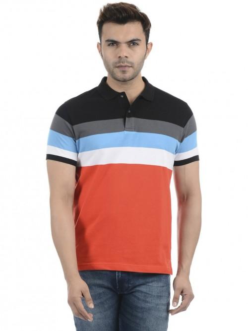 Pepe Jeans Orange And Black Stripe T-shirt