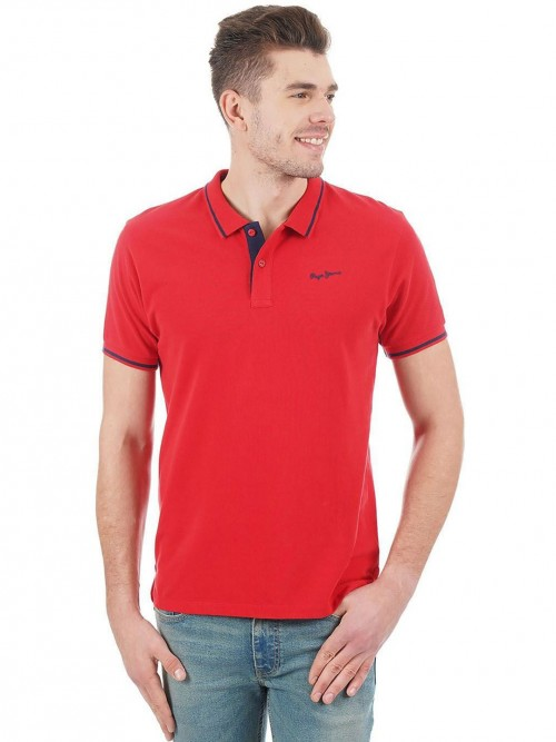 Pepe Jeans Solid Red Polo T-shirt