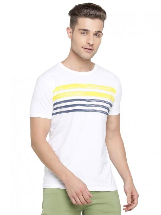 Pepe Jeans Stripe White Casual T-shirt