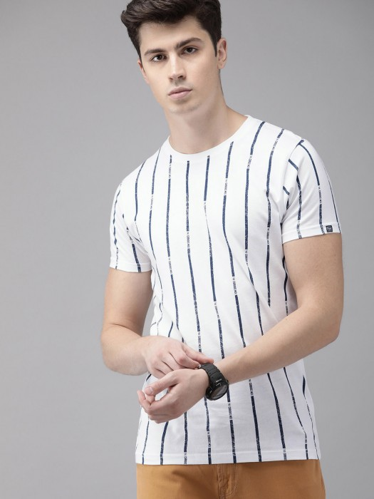 Pepe Jeans White Slim Fit Stripe T-shirt