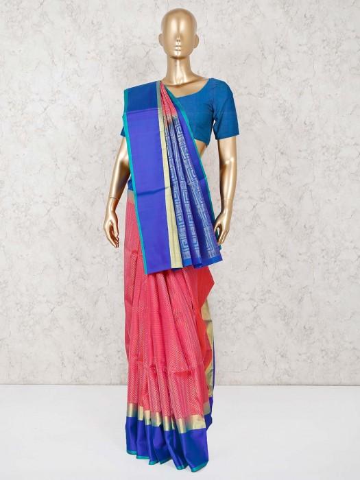 Pink Pure South Silk Beautiful Saree
