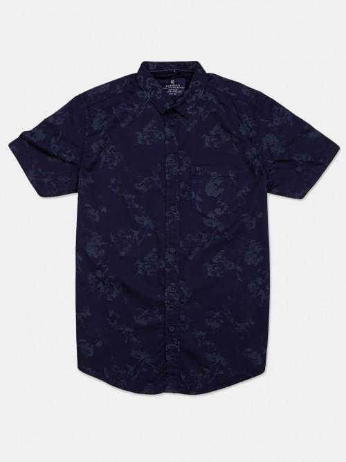 Pioneer Casual Wear Navy Printed Shirt