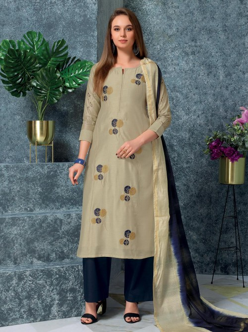 Pretty Cotton Green Cotton Punjabi Suit