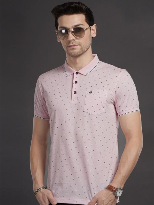 Psoulz Presented Pink Printed T-shirt