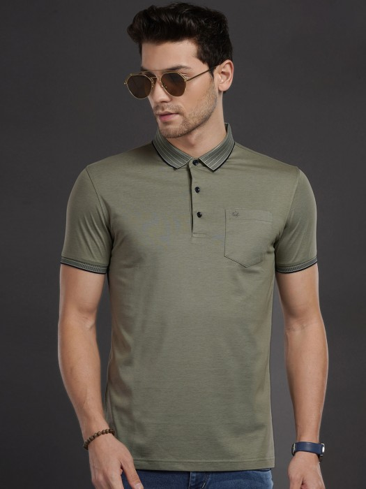 Psoulz Presented Solid Olive T-shirt