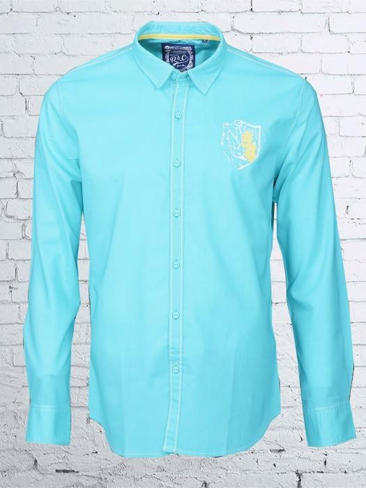 R & C Sky Blue Cotton Shirt