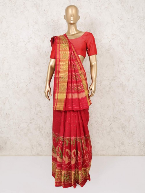 Red Patola Silk Saree For Wedding Days