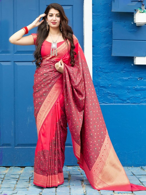 Red Premium Banarasi Silk Saree