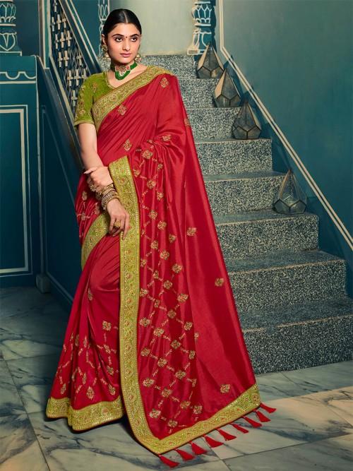 Red Silk Saree For Wedding Season