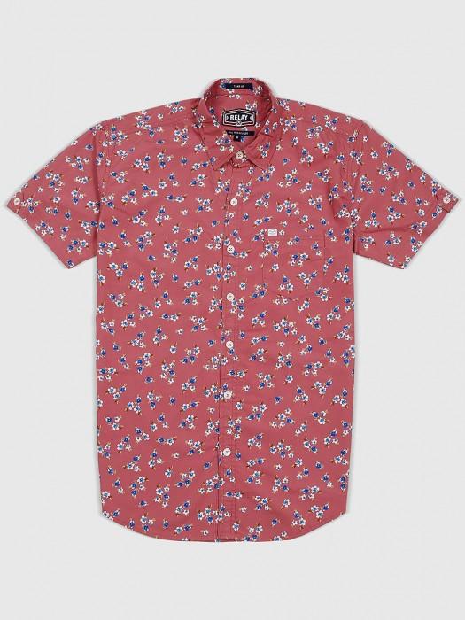 Relay Printed Peach Color Slim Fit Shirt