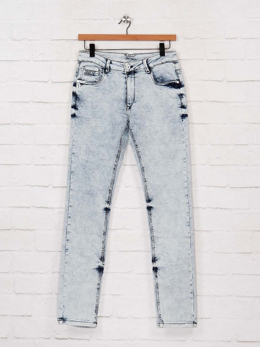 Rex Straut Ice Blue Washed Nerrow Jeans