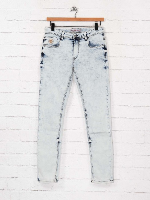 Rex Straut Washed Effect Ice Blue Jeans