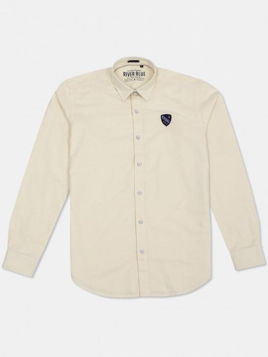 River Blue Lemon Yellow Solid Shirt
