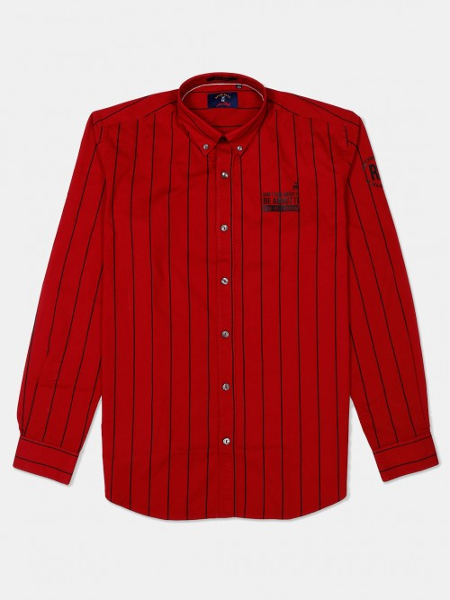 River Blue Presented Red Buttoned Down Shirt