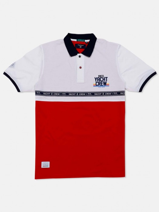 River Blue Red And White Solid T-shirt