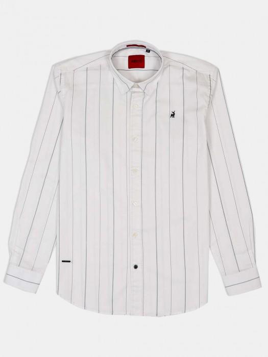 River Blue Slim Collar White Stripe Shirt