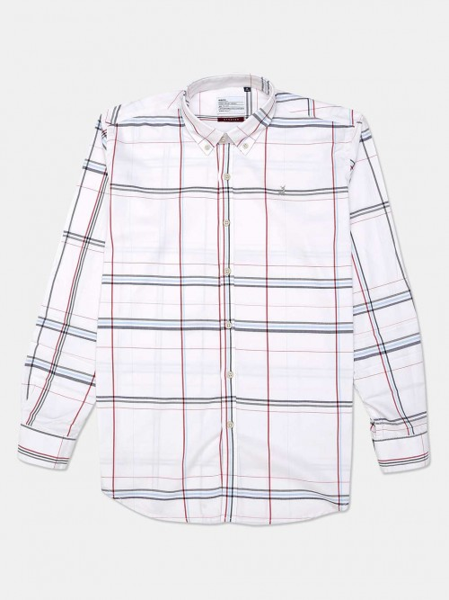 River White Checks Cotton Casual Shirt