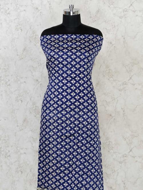 Royal Blue Cotton Festivals Wear Dress Material
