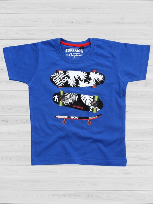 Ruff Blue Printed T-shirt