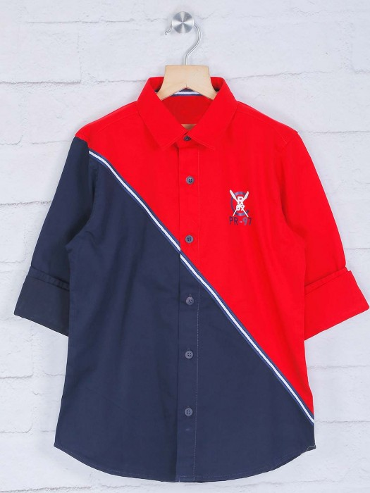 Ruff Cotton Navy And Red Shirt
