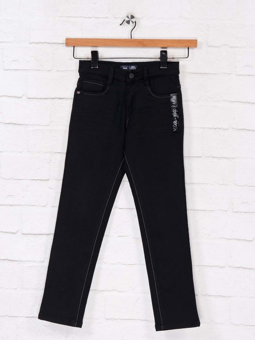 Ruff Latest Black Slim Fit Jeans