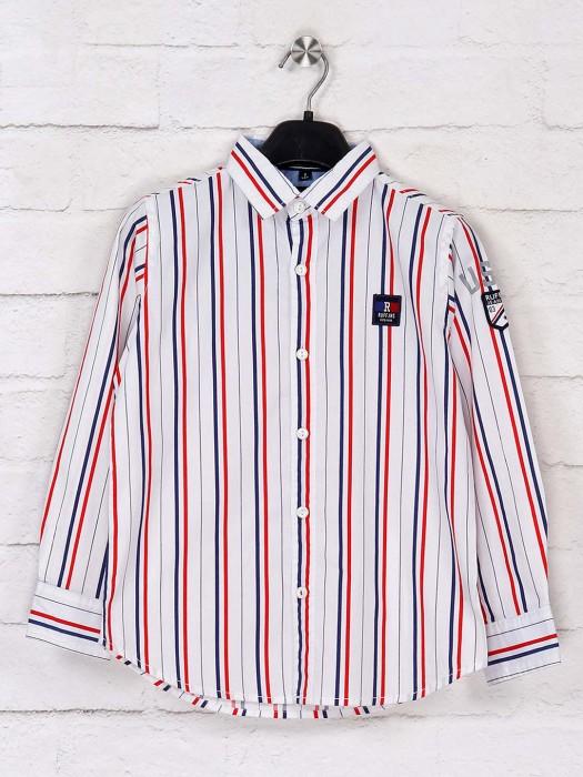 Ruff White Stripe Casual Wear Shirt