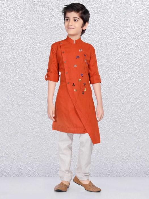Rust Orange Weddign Occasion Kurta Suit
