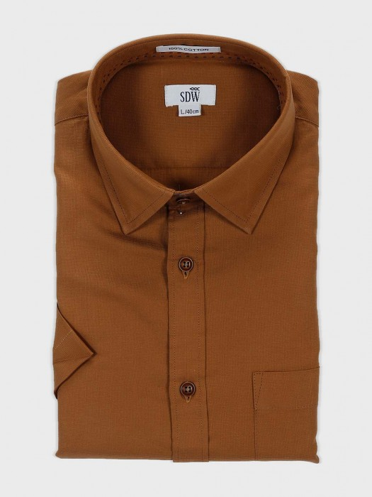 SDW Solid Brown Mens Official Shirt