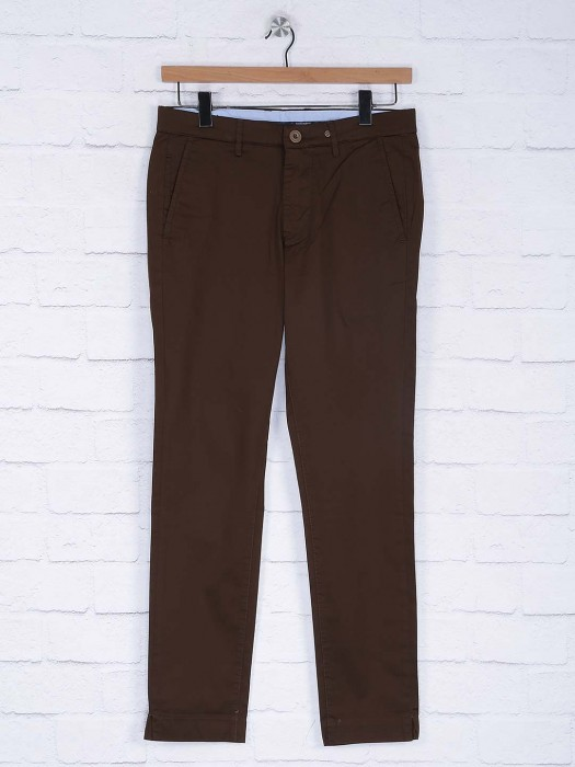 Six Element Brown Color Cotton Trouser