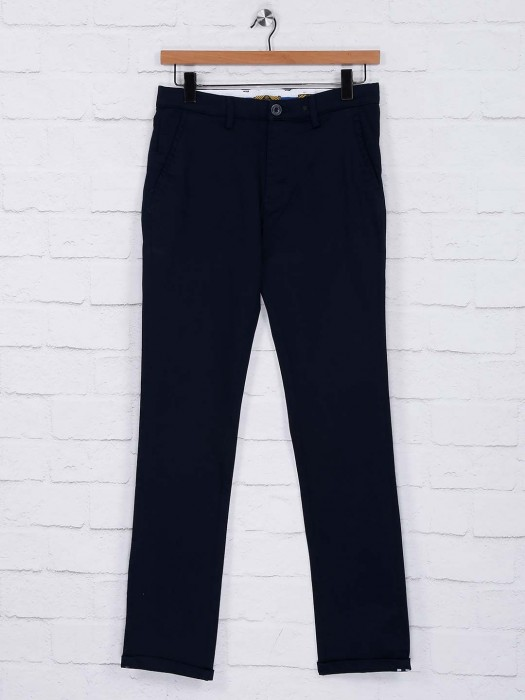 Sixth Element Simple Navy Casual Wear Trouser