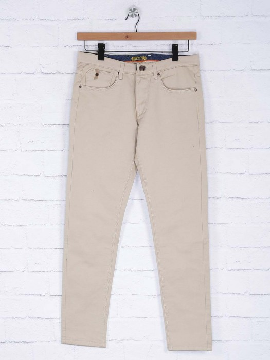 Six Element Solid Cream Hued Trouser