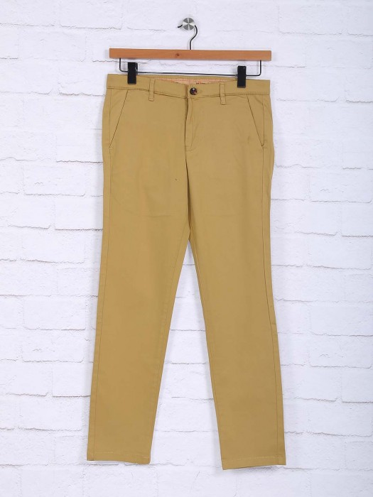 Sixth Element Simple Beige Color Trouser