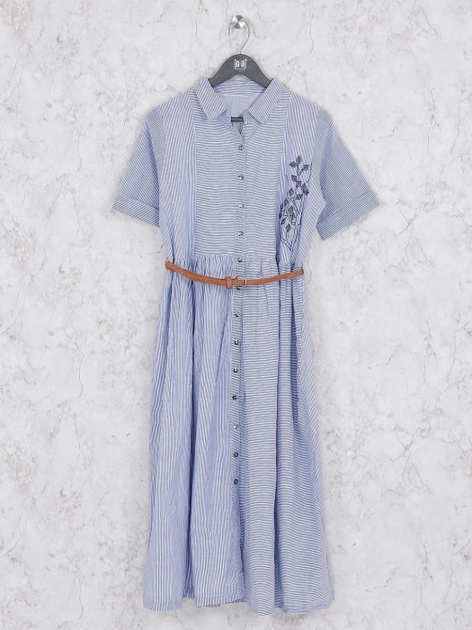 Sky Blue Cotton Casual Wear Kurti