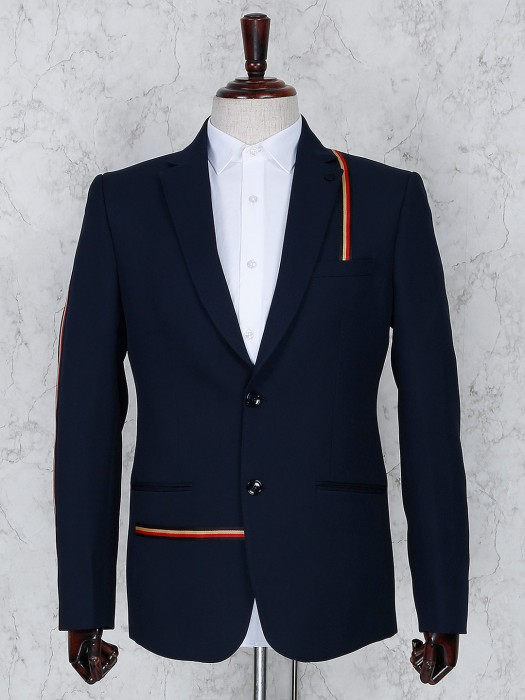 Solid Navy Color Two Buttoned Blazer