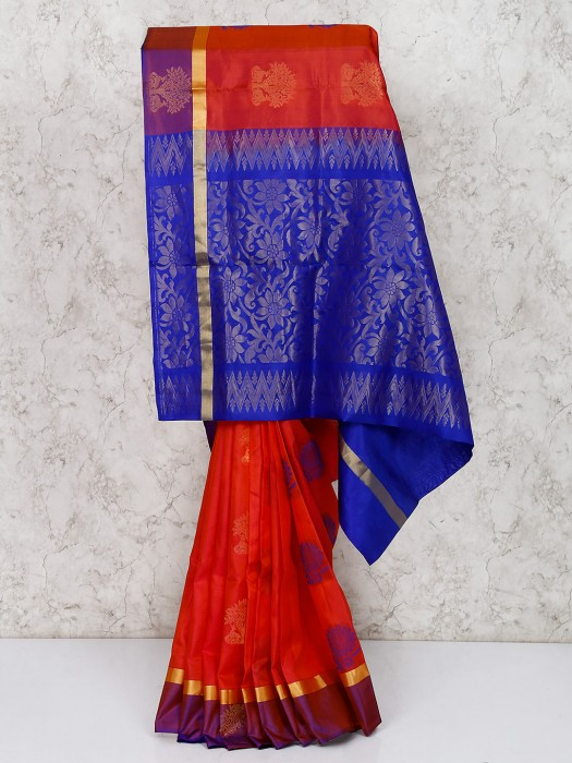 South Silk Red Saree For Marriage Ceremony