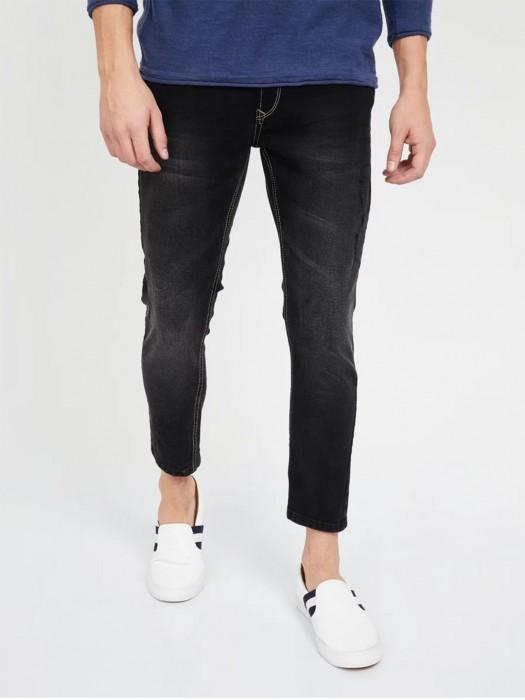 Spykar Mens Solid Black Latest Jeans