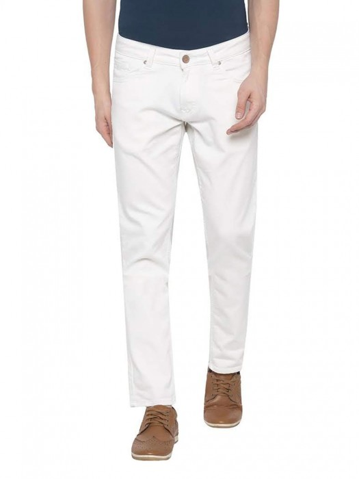 Spykar Solid White Skinny Fit Jeans