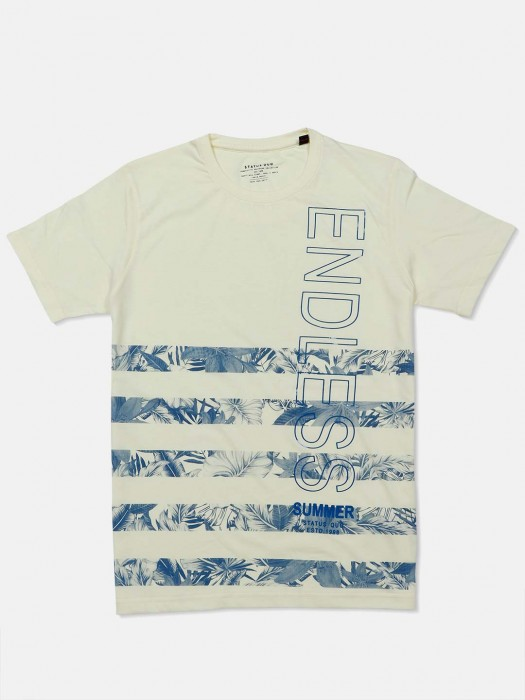 Status Quo Lime Yellow Printed T-shirt