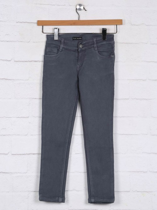 Stilomoda Grey Solid Denim