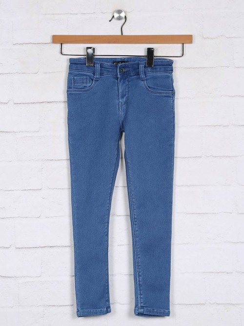 Stilomoda Solid Blue Girls Jeans