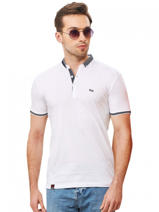Stride Ivory White Hue Solid T-shirt